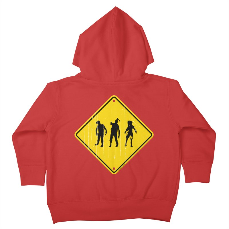 Zombie X-ing Kids Toddler Zip-Up Hoody by doombxny's Artist Shop