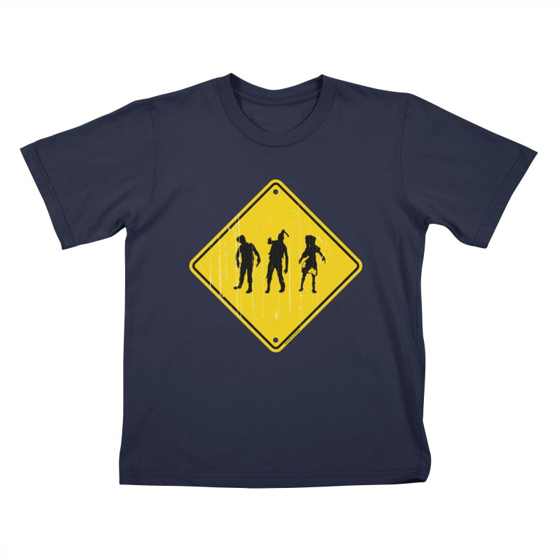 Zombie X-ing Kids T-Shirt by doombxny's Artist Shop