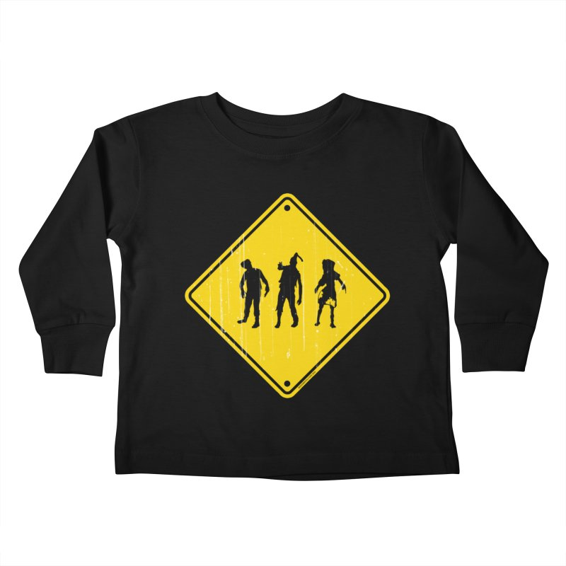 Zombie X-ing Kids Toddler Longsleeve T-Shirt by doombxny's Artist Shop