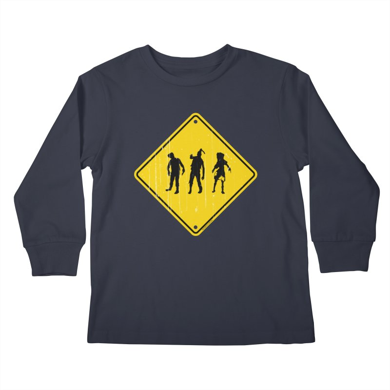 Zombie X-ing Kids Longsleeve T-Shirt by doombxny's Artist Shop