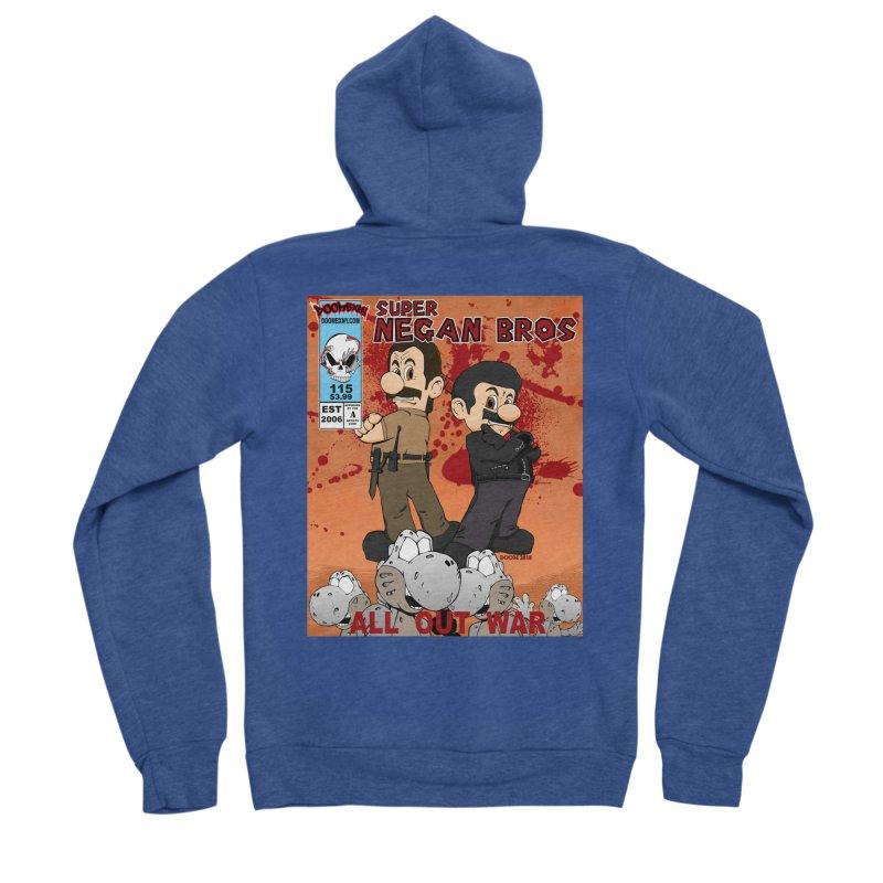 Super Negan Bros: All Out War Women's Sponge Fleece Zip-Up Hoody by doombxny's Artist Shop