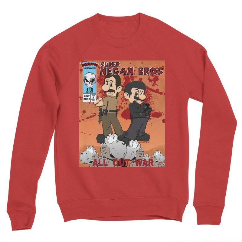 Super Negan Bros: All Out War Women's Sponge Fleece Sweatshirt by doombxny's Artist Shop
