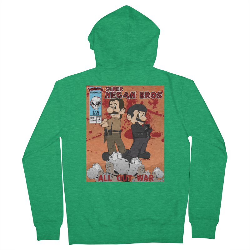 Super Negan Bros: All Out War Women's Zip-Up Hoody by doombxny's Artist Shop