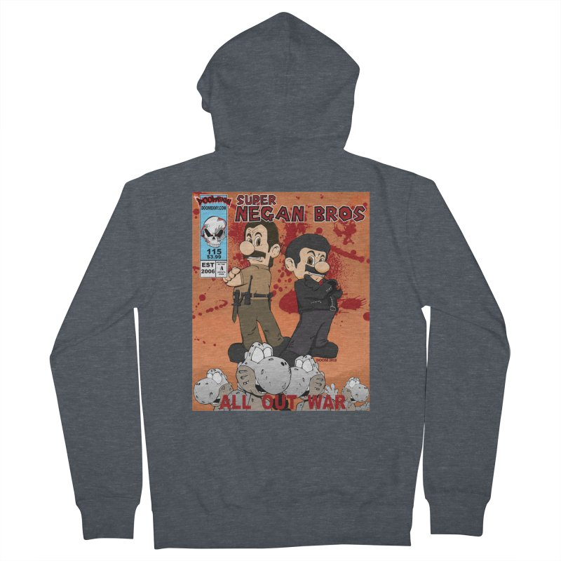 Super Negan Bros: All Out War Women's French Terry Zip-Up Hoody by doombxny's Artist Shop