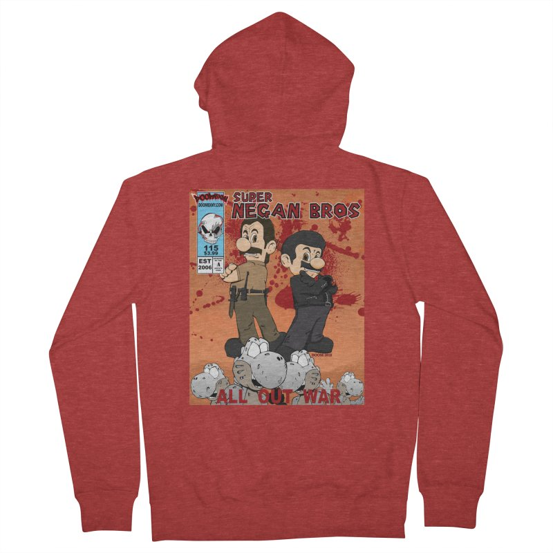 Super Negan Bros: All Out War Men's French Terry Zip-Up Hoody by doombxny's Artist Shop