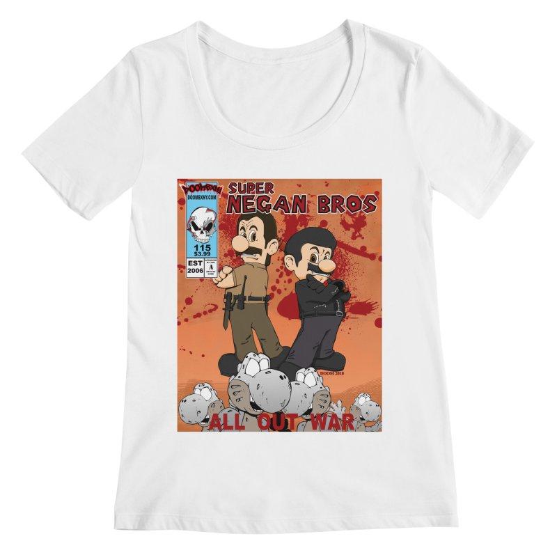 Super Negan Bros: All Out War Women's Regular Scoop Neck by doombxny's Artist Shop