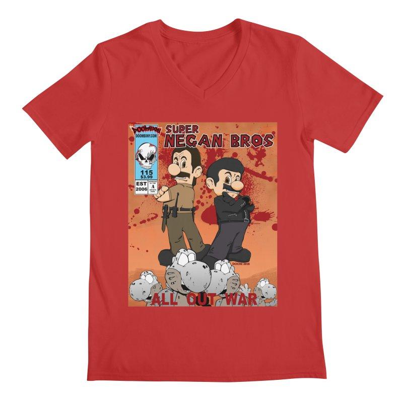 Super Negan Bros: All Out War Men's Regular V-Neck by doombxny's Artist Shop