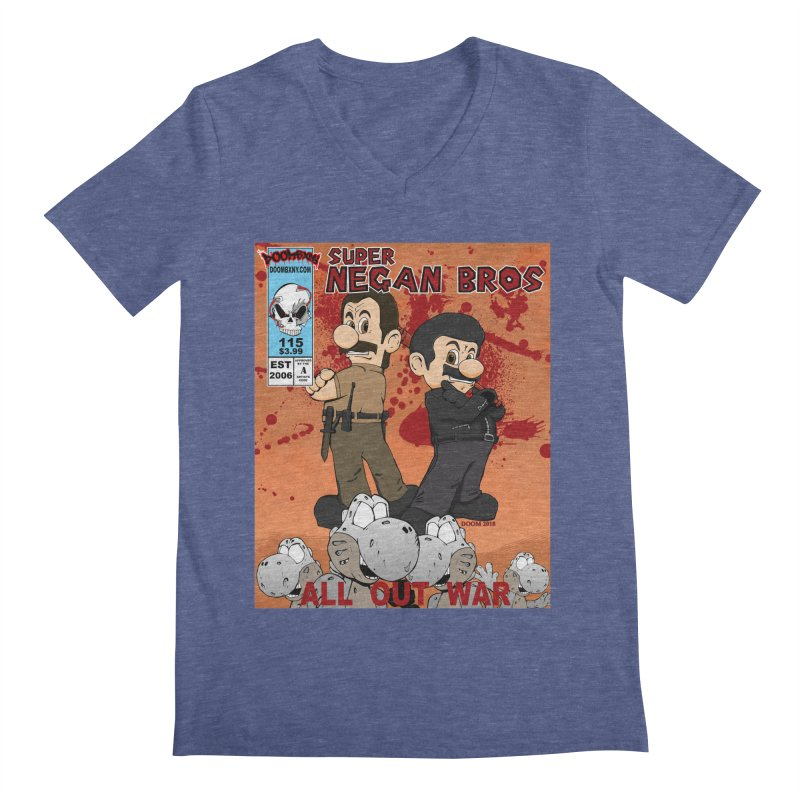 Super Negan Bros: All Out War Men's V-Neck by doombxny's Artist Shop