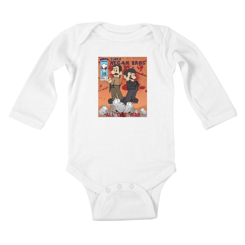 Super Negan Bros: All Out War Kids Baby Longsleeve Bodysuit by doombxny's Artist Shop