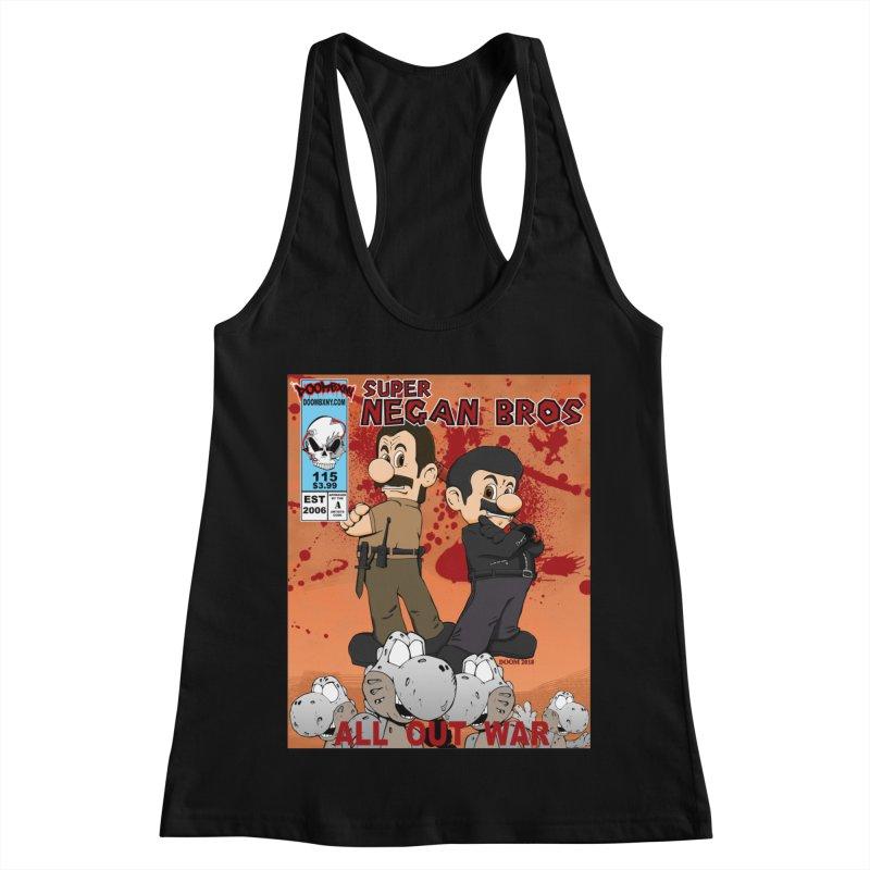 Super Negan Bros: All Out War Women's Racerback Tank by doombxny's Artist Shop
