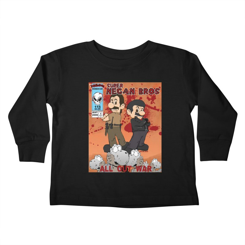 Super Negan Bros: All Out War Kids Toddler Longsleeve T-Shirt by doombxny's Artist Shop