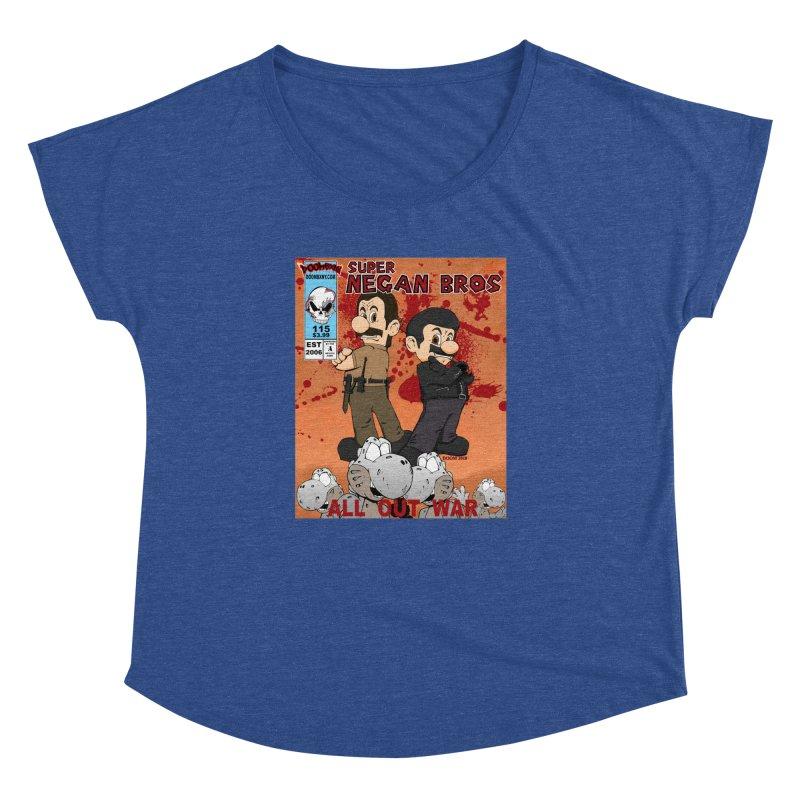 Super Negan Bros: All Out War Women's Dolman Scoop Neck by doombxny's Artist Shop
