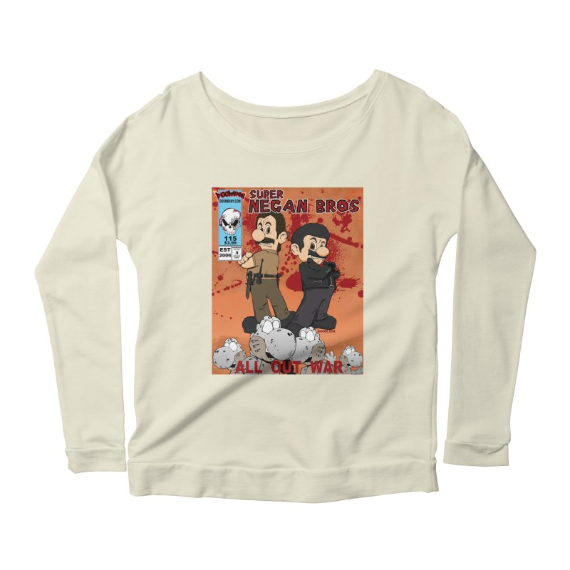 Super Negan Bros: All Out War Women's Scoop Neck Longsleeve T-Shirt by doombxny's Artist Shop