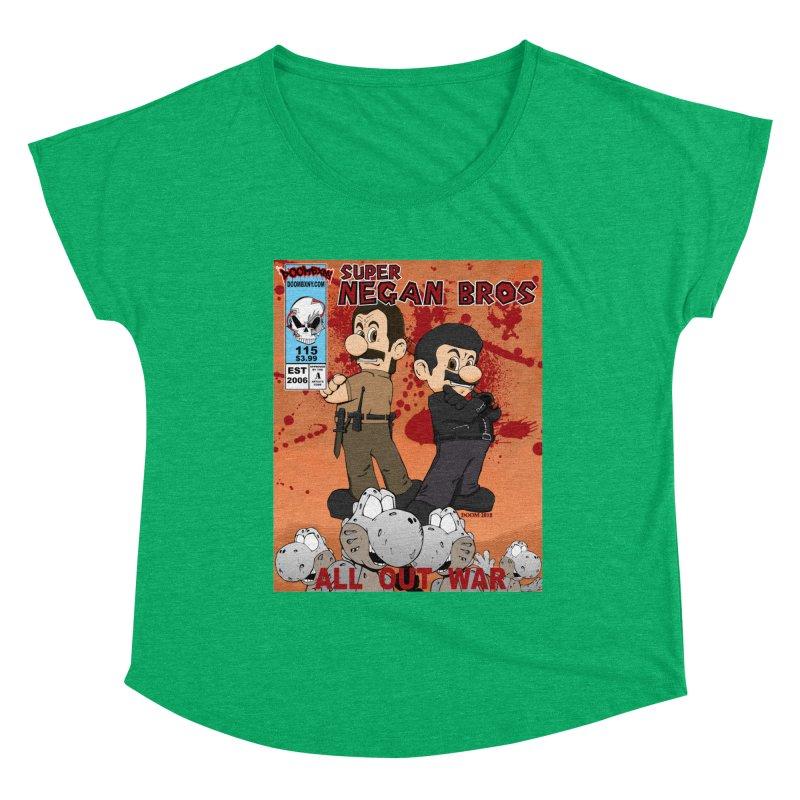 Super Negan Bros: All Out War Women's Scoop Neck by doombxny's Artist Shop