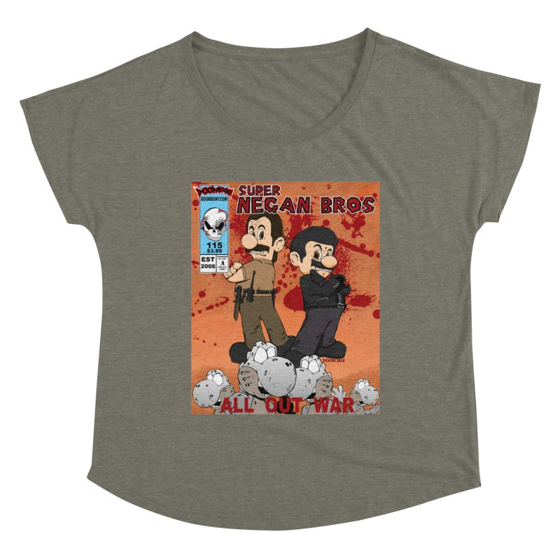 Super Negan Bros: All Out War Women's Scoop Neck by doombxny's Artist Shop
