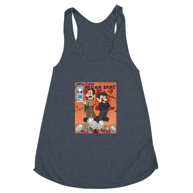 Super Negan Bros: All Out War Women's Racerback Triblend Tank by doombxny's Artist Shop