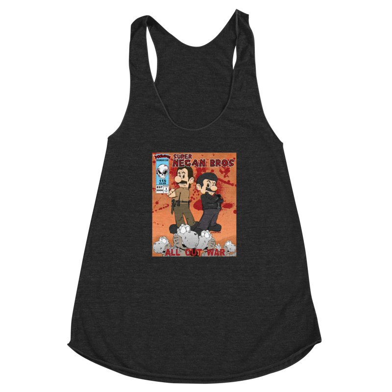 Super Negan Bros: All Out War Women's Racerback Triblend Tank by doombxny's Artist Shop