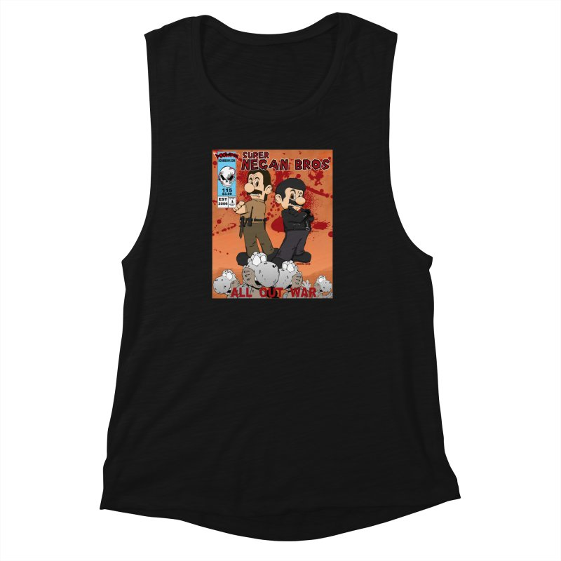Super Negan Bros: All Out War Women's Muscle Tank by doombxny's Artist Shop