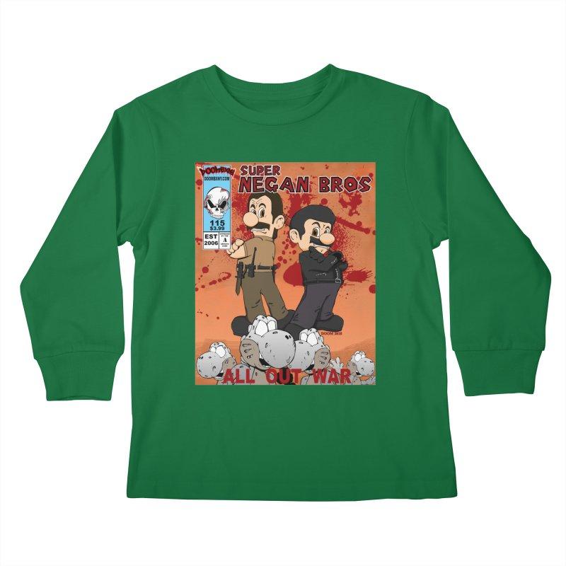 Super Negan Bros: All Out War Kids Longsleeve T-Shirt by doombxny's Artist Shop
