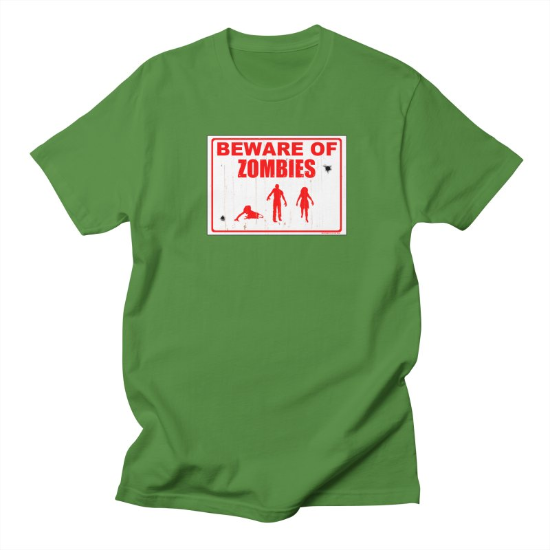 Beware of zombies Men's T-Shirt by doombxny's Artist Shop