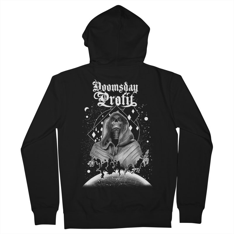 Space Reaper (Chatterskull) Men's Zip-Up Hoody by Doomsday Profit Merch