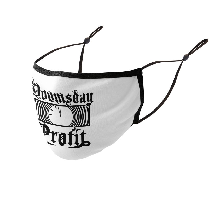 Doomsday Profit Logo Accessories Face Mask by Doomsday Profit Merch