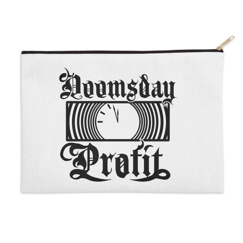 Doomsday Profit Logo Accessories Zip Pouch by Doomsday Profit Merch