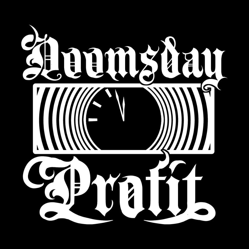Doomsday Profit Logo (White on Black) Men's Sweatshirt by Doomsday Profit Merch