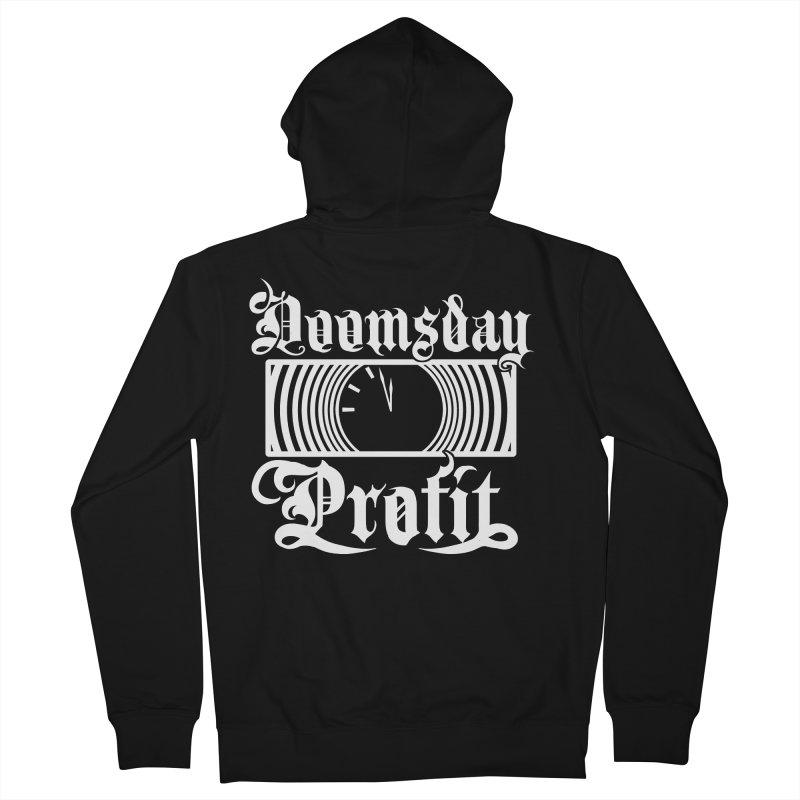 Doomsday Profit Logo (White on Black) Women's Zip-Up Hoody by Doomsday Profit Merch