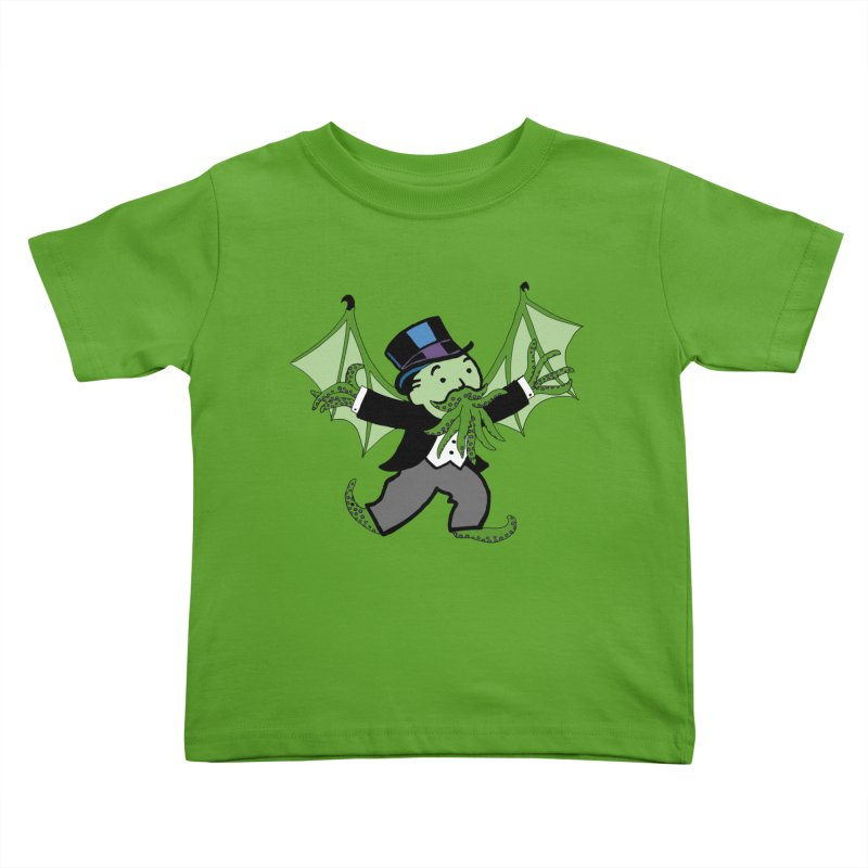 Eldritch Uncle Pennybags Kids Toddler T-Shirt by Doomsday Profit Merch