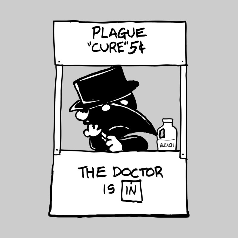 The Plague Doctor Is In Men's T-Shirt by Doomsday Profit Merch