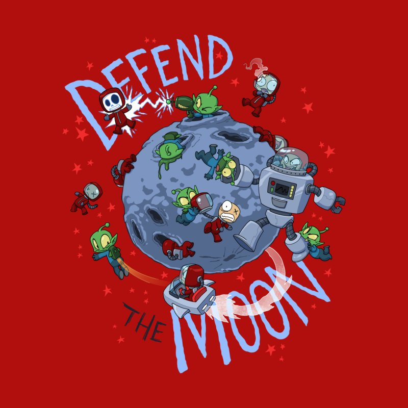 Moon Battle Men's T-Shirt by Dooomcat