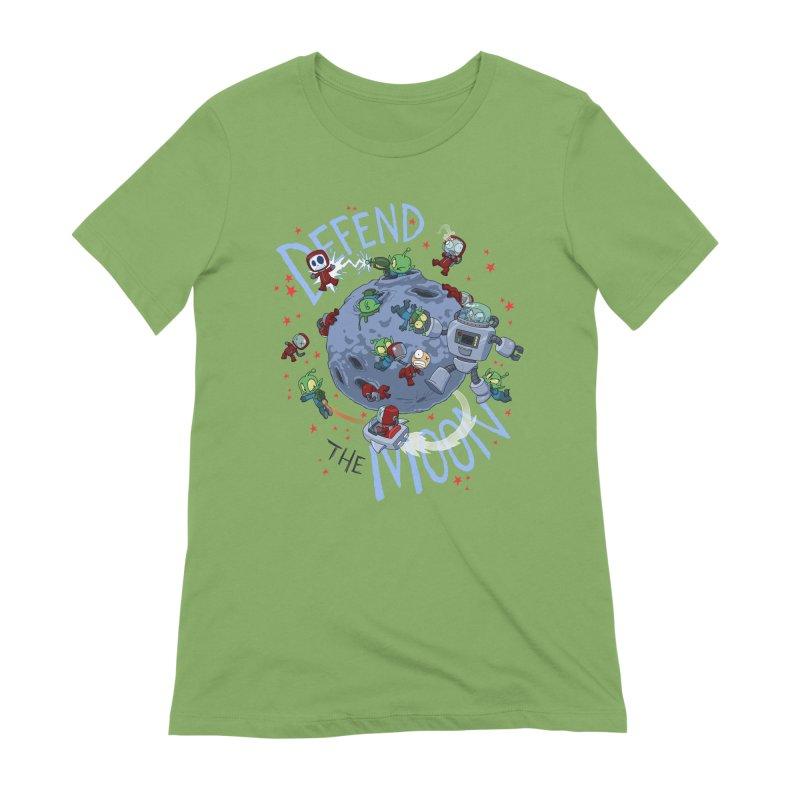 Moon Battle Women's Extra Soft T-Shirt by Dooomcat