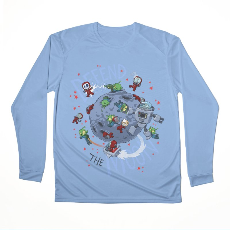 Moon Battle Men's Performance Longsleeve T-Shirt by Dooomcat