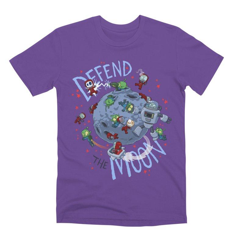 Moon Battle Men's Premium T-Shirt by Dooomcat