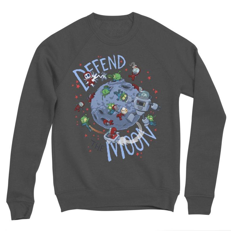 Moon Battle Men's Sponge Fleece Sweatshirt by Dooomcat