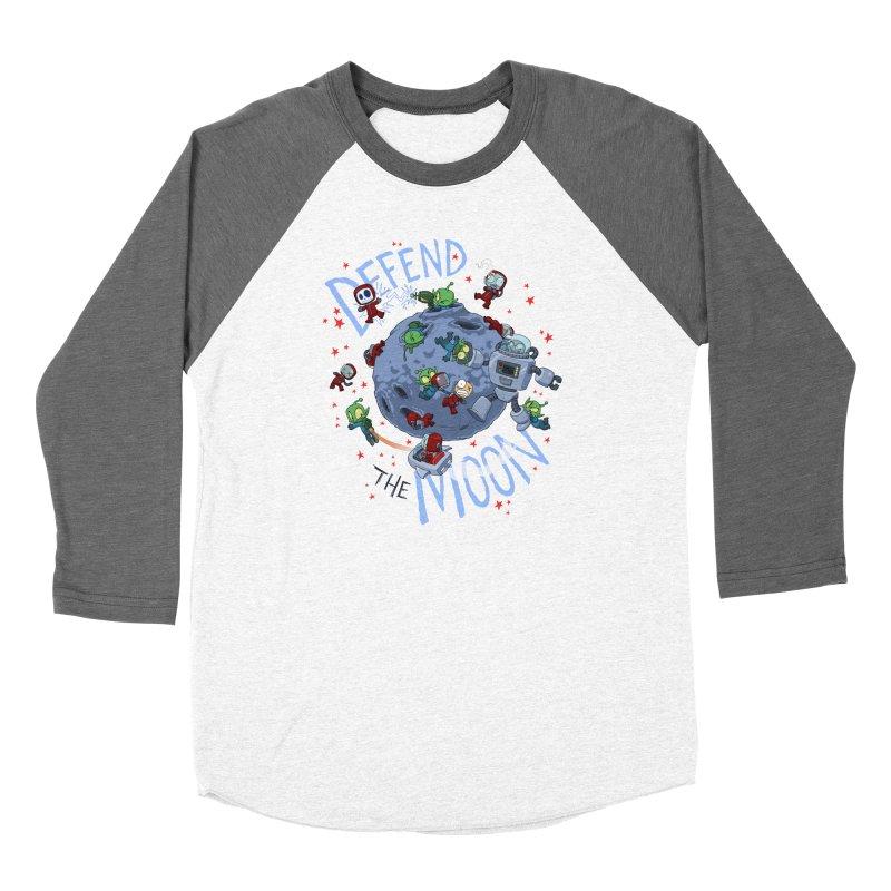 Moon Battle Men's Baseball Triblend Longsleeve T-Shirt by Dooomcat