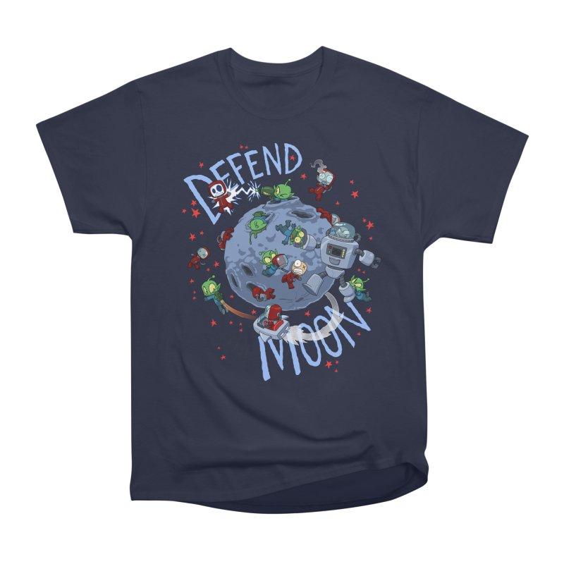 Moon Battle Women's Heavyweight Unisex T-Shirt by Dooomcat