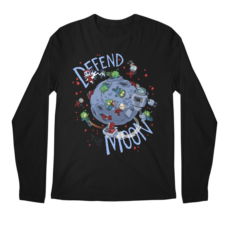 Moon Battle Men's Regular Longsleeve T-Shirt by Dooomcat