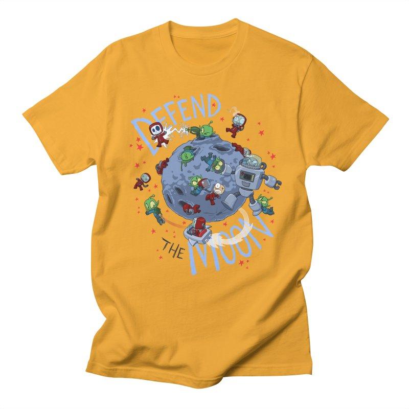 Moon Battle Men's T-Shirt by Dooomcat