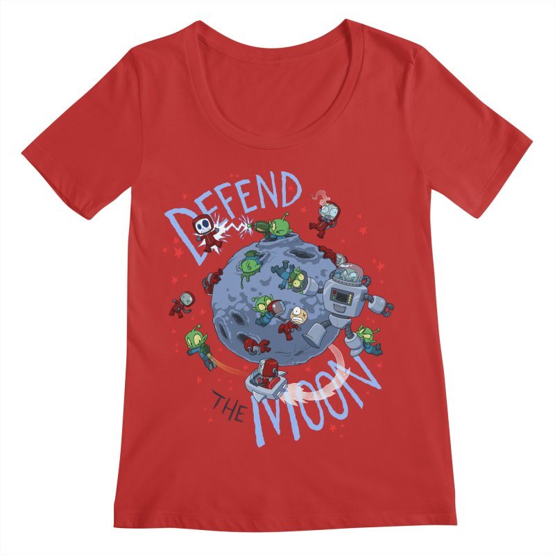 Moon Battle Women's Regular Scoop Neck by Dooomcat
