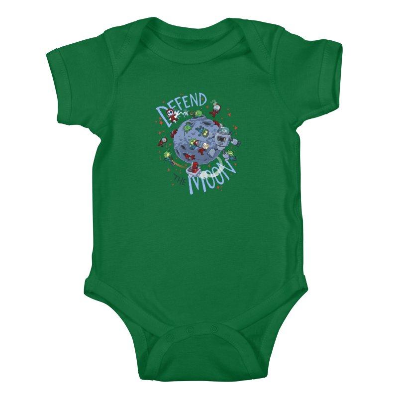Moon Battle Kids Baby Bodysuit by Dooomcat