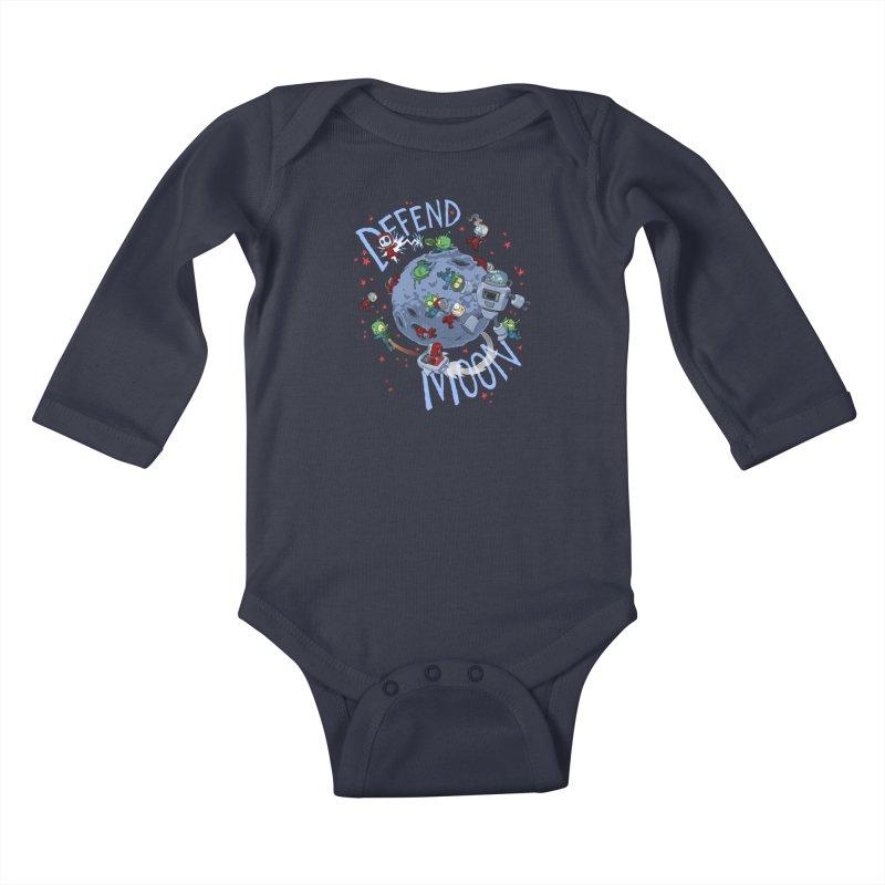Moon Battle Kids Baby Longsleeve Bodysuit by Dooomcat