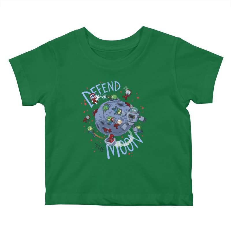 Moon Battle Kids Baby T-Shirt by Dooomcat