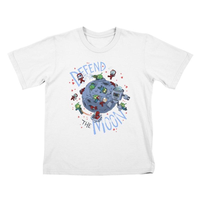 Moon Battle Kids T-Shirt by Dooomcat