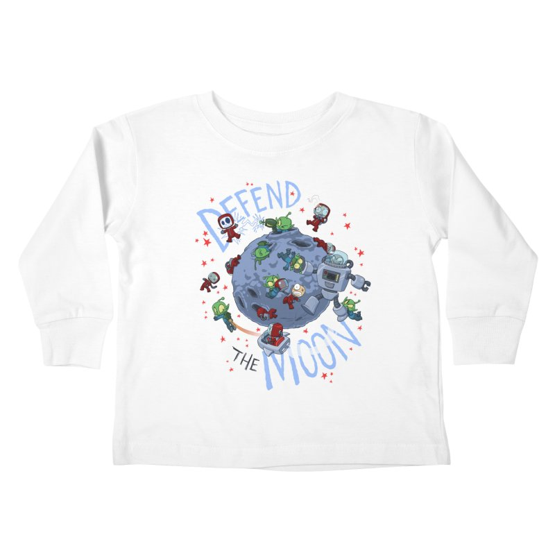 Moon Battle Kids Toddler Longsleeve T-Shirt by Dooomcat