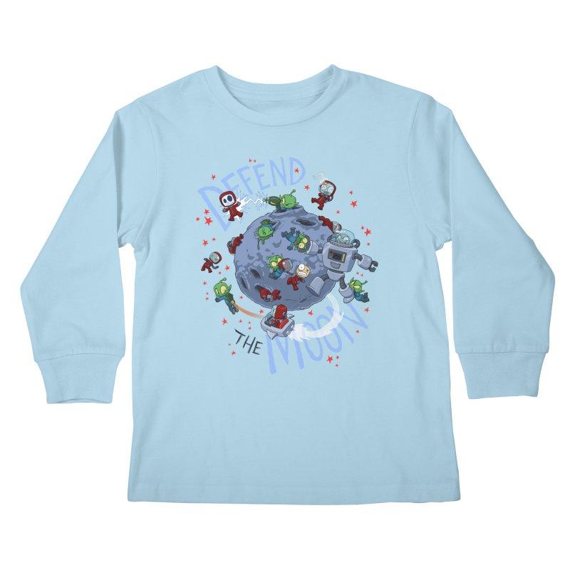 Moon Battle Kids Longsleeve T-Shirt by Dooomcat
