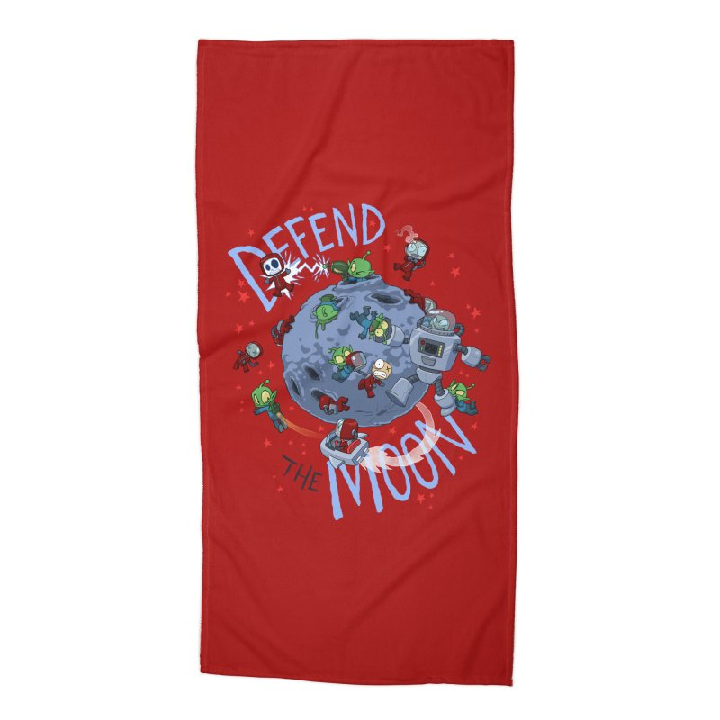 Moon Battle Accessories Beach Towel by Dooomcat