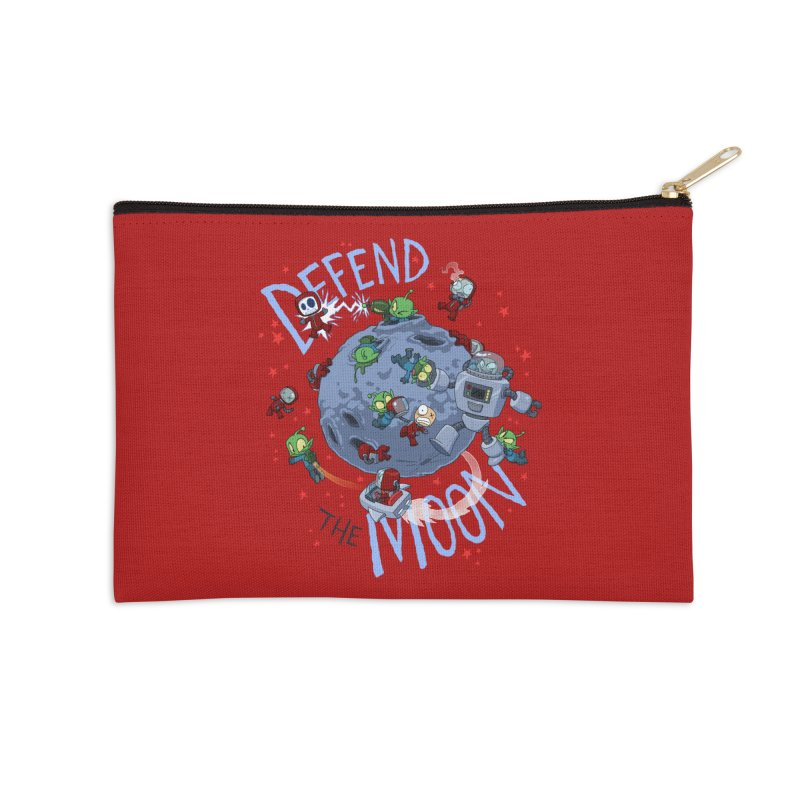 Moon Battle Accessories Zip Pouch by Dooomcat