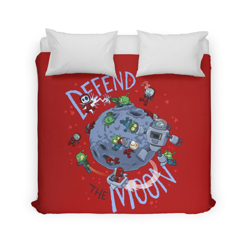Moon Battle Home Duvet by Dooomcat